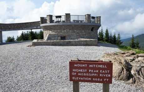 Mount Mitchell Summit is the Higest Peak in Eastern USA