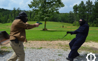 knife drill action shot