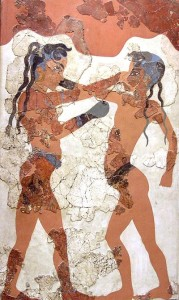 anciet greek depiction of combat from Thera